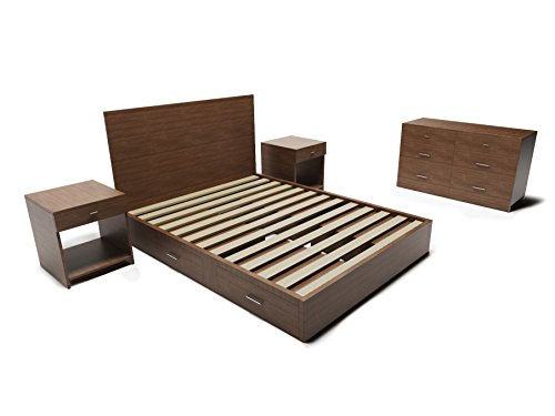 Modern and Rustic Storage 5-Piece Bedroom Set