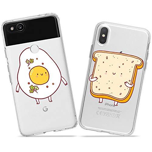 Wonder Wild Egg Toast Pair Case iPhone Xs