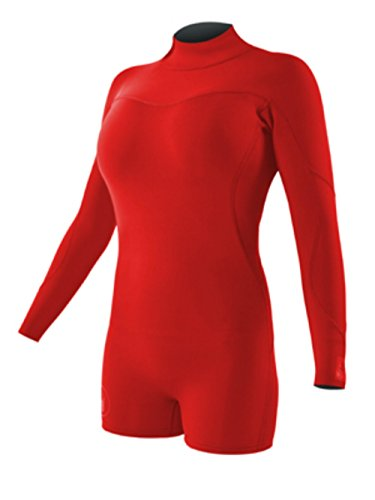 Body Glove Wetsuit Co Women's Smoothie Long Sleeve Springsuit, Red, 11/12