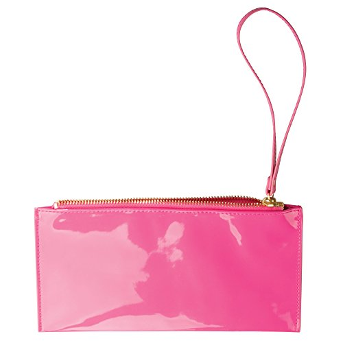 - Remy Cosmetic Clutch Purse for Makeup, Hair Accessories - Pink/ Patent