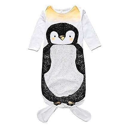 Homeofying - Manta para bebé recién Nacido, diseño de pingüino y Sirena, Color Blanco