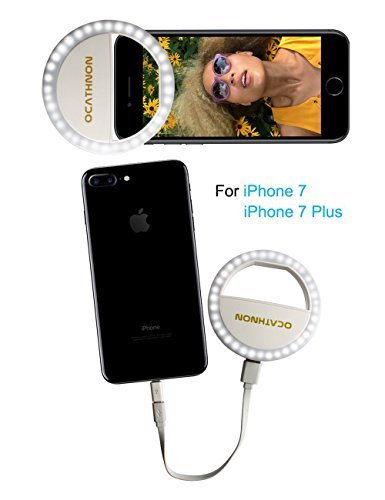 online store 857d7 ab1f4 Ring Light Compatiable for iPhone, Rechargeable LED Selfie Fill Light  Circle Light for iPhone 7 Plus/7/iPhone 6s/6/Samsung Galaxy S7/S6  Edge/S6(White)