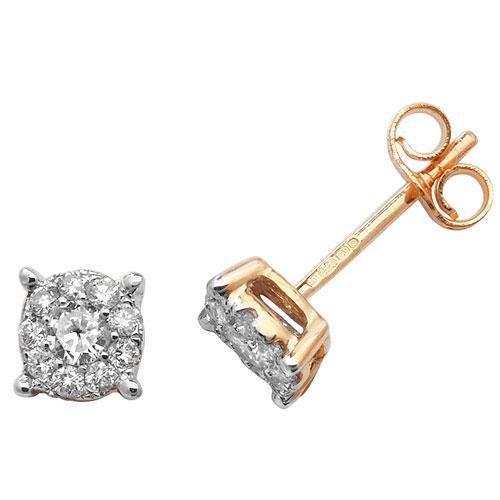 Boucles d'oreilles diamant brillant Element 9ct H I120D 0,30ct