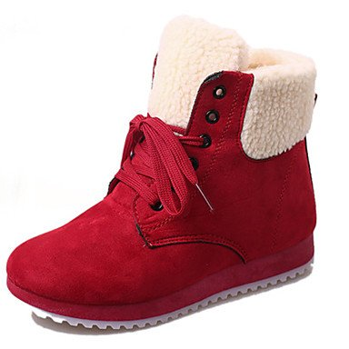 ZQ dedo del pie en punta zapatos planos de las mujeres de color ocasional; marrón / rojo / beige / negro / blanco , black-us6 / eu36 / uk4 / cn36 , black-us6 / eu36 / uk4 / cn36