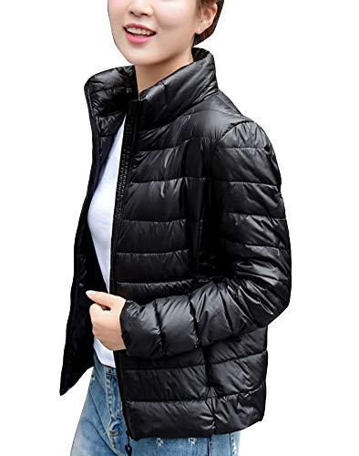 matelassée de Veste de Giubotto femmes couleur noire manteau Gladiolusa rembourré pour d'hiver AwwITd