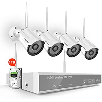 Top Home Security Systems 2020.2020 New Wireless Security Camera System With 1tb Hard Drive Safevant 8 Channel 1080p Video Security Systems 4pcs 960p Indoor Outdoor Home