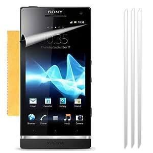 Fone-Case Sony Xperia S LT26i pantalla LCD Ultra Transparente Protector de guardabarros y micro de la fibra paño de limpieza (paquete de 3)