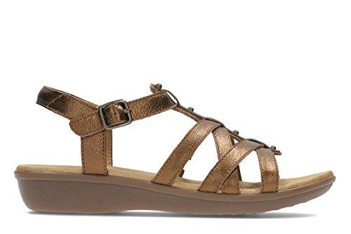CLARKS Clarks Womens Sandal Manilla Bonita Bronze Gold