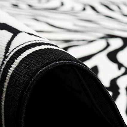 Pergamon Trendline Tapis Moderne 4 Tailles Disponibles Z/èbre Noir Blanc