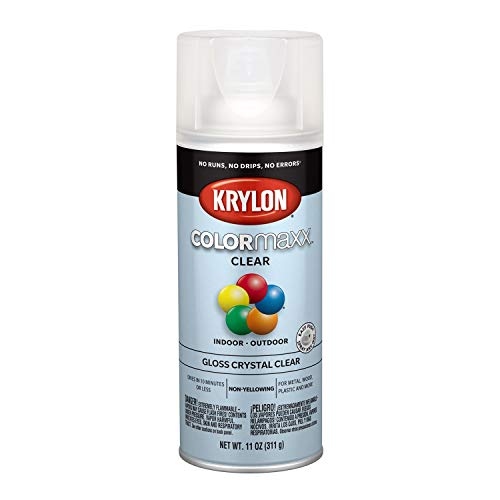 Gloss Clear Spray Paint - Krylon K05515007 COLORmaxx Spray Paint, Aerosol, Clear