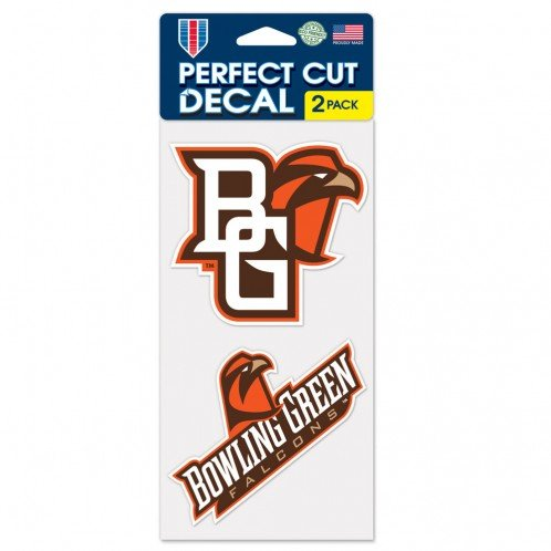 Wincraft NCAA Bowling Green State University Perfect Cut Decal (Set of 2), 4'' x 4''