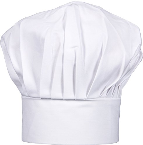 Modern Kitchen Cooking Lightweight Adjustable Personalized Mushroom Poly/Cotton Professional Chef Hat, White Chef Hats for Adults