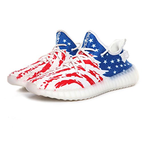 Men's Shoes V2 Presto Spring Autumn Basket Femme Chaussure Male Shoes Trainers Ultras Boosts Yezzy Shoes Krasovki, Red Blue White, 39/8 B(M) US Women / 6 D(M) US (Boost Spring)