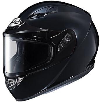 Amazon.com: HJC CS-R3 SN Black Snowmobile Helmet with Dual