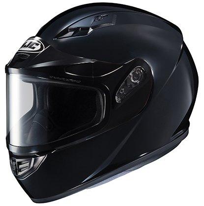 HJC Helmets CS-R3SN Unisex-Adult Full Face Snow Helmet with Framed Dual Lens Shield (Black, Small)