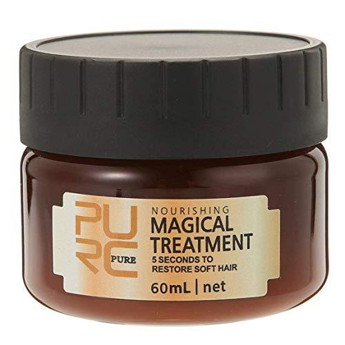 PURC Hair Treatment Mask, 2019 Magical Hair Mask 5 Seconds Repairs Damage Hair Root Hair Tonic Keratin Hair & Scalp Treatment 60ML