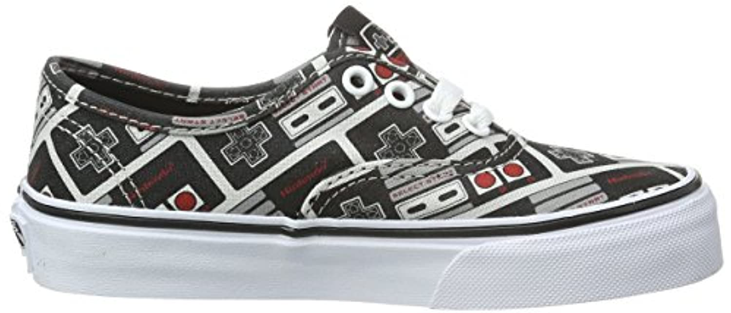 Vans Authentic, Unisex Kids' Low-Top Sneakers, Multicolor ((Nintendo) Controller/true white), 1 Child UK