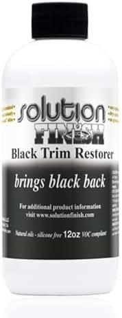 Solution Finish Black Plastic & Vinyl Plastic Trim Restorer - Car and Truck Polish - 12 oz