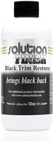 Solution Finish Black Plastic & Vinyl Plastic Trim Restorer - Car and Truck Polish - 1