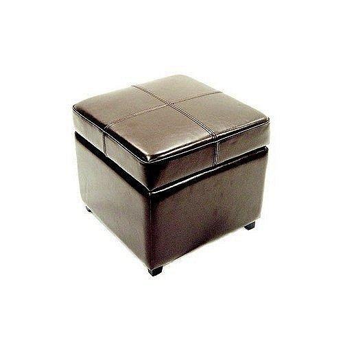 Full Leather Ottoman-0380-001-dark brown