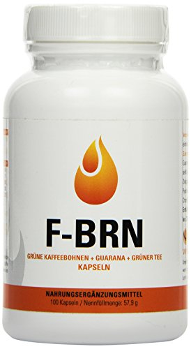 Vihado F-BRN - Grüne Kaffebohnen, Grüner Tee, Guarana, 100 Kapseln, 1er Pack (1 x 75,9 g)