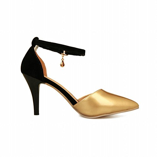 Carol Shoes Women's Elegant Sexy High Heel Stiletto Ankle-strap Sandals Gold 1HFSLL