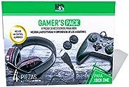 HQ - Gamer's Pack Kit de Accesorios para Xbox One 4 en 1 (Control, Audifonos, Gomas y Ca