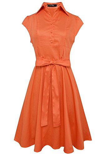 anni-coco-womens-1950s-cap-sleeve-rockabilly-swing-vintage-party-shirt-dresses-orange-large
