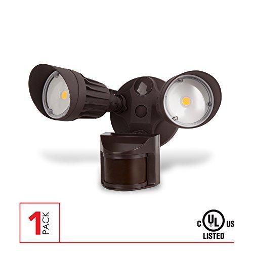LED Security Light, 20W (100W Equivalent) Moition Sensor Light, 1800 Lumens, 5000K, Waterproof IP65, UL Listed, Bronze [並行輸入品] B07R7RF7GG