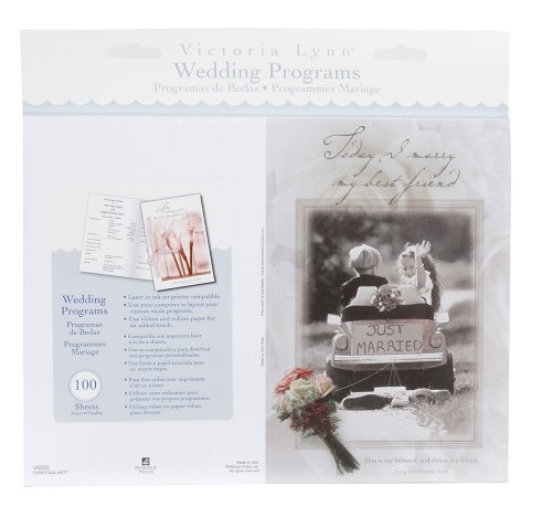 Darice VL6286, Double Heart Wedding Program, Black ()