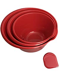 Purchase 3 Piece Nesting Mixing Bowls with Spatula, Red deal