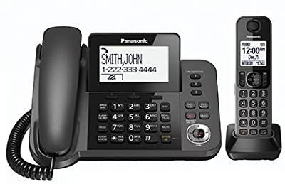 Panasonic KX-TGF350M DECT 6.0 Corded/Cordless Phone with Answering Machine, 1 Handset