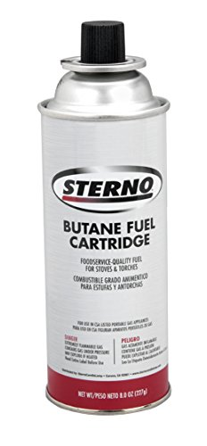 - Sterno 50162 50130 8-Ounce Butane Fuel Cartridges, 12-Pack