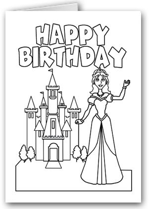 Amazon Princess And Castle Theme Kids Color In Birthday