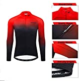 Winter Long Sleeve Cycling Jersey Men Reflective