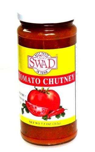 Indian Groceries, Swad Tomato Chutney - 7.5oz., 212g.