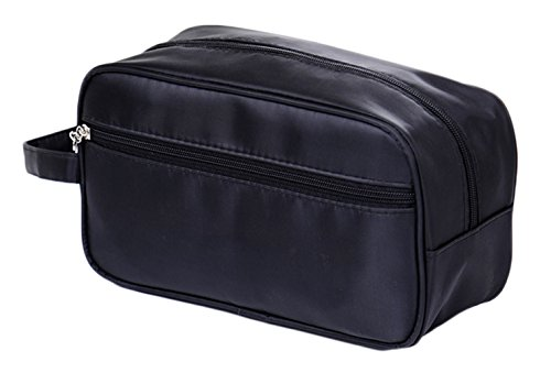 Price comparison product image iSuperb Toiletry Bag Travel Organizer Classy Waterproof Portable Wash Gym Shaving Bag for Men 10x6x4inch(Black)