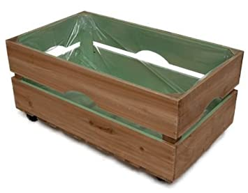 Juego de 2 Jardinera madera cajas con pantalla verde madera - Cesta decorativa (Caja de madera con tapa Tann Caja de madera caja: Amazon.es: Jardín