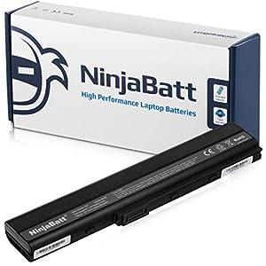 NinjaBatt Laptop Battery for Asus K52F A32-K52 K52J A52F A42-K52 X52F K52 K42F X52J A52J A42J K52JC A41-B53 A41-K52 [6 Cells/4400mAh/48wh]