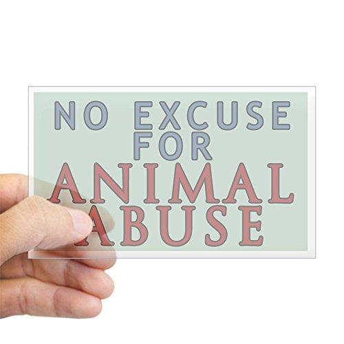 CafePress No Animal Abuse Sticker (Rectangle) Rectangle Bumper Sticker Car Decal