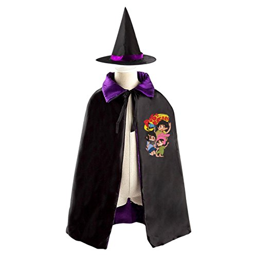 Bob's Burgers Logo Kids Halloween Party Costume Cloak Wizard Witch Cape With (Bob And Linda Halloween)