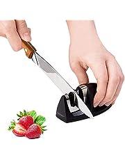 hanmir Afilador Cuchillos Profesional Afilador Cuchillos de Cocina de 2 Etapas, Varilla de Cerámica y Hoja de Acero de Tungsteno,para Cuchillos de Todo tamaño del hogar