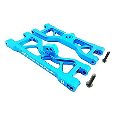 Hot Racing ECT5506 Aluminum Sb Front Suspension Arm Set (Blue) - ECX 2WD: Toys & Games