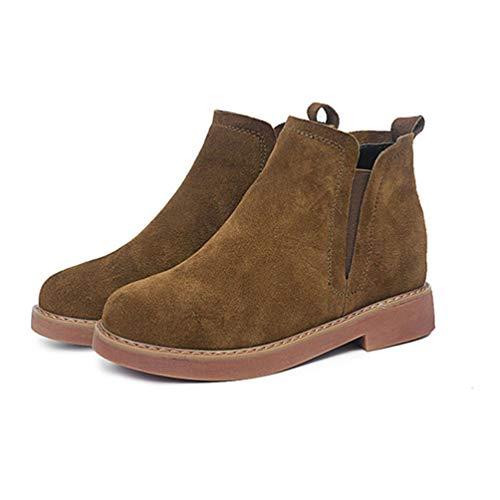 Oculto Mujer de caída Tobillo Zapatos Talones Corta Bota Caqui Tobillo Bota Casual Moda Botas aPw5xRUq5
