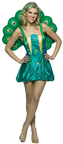 UHC Women's Lightweight Peacock Outfit Funny Theme Halloween Fancy Costume, OS (6-10)