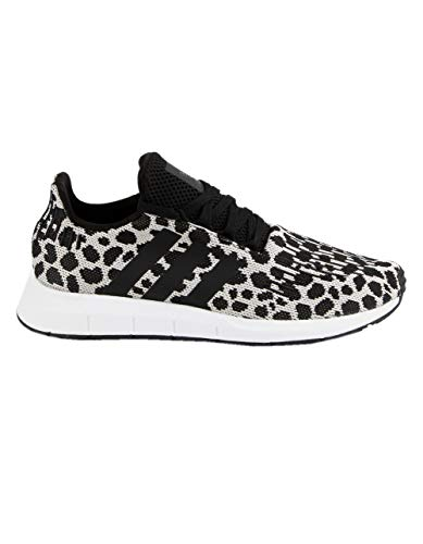 adidas Originals Women's Swift Run W Raw White/Core Black/Carbon 7.5 B US (Women Core)