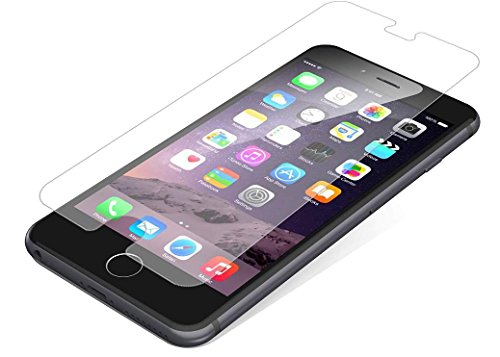 - GabbaGoods Battle Shield Tempered Glass- Premium Shatter Resistant, Anti-Fingerprint Screen Protector for Apple iPhone 6/7/8 - Clear