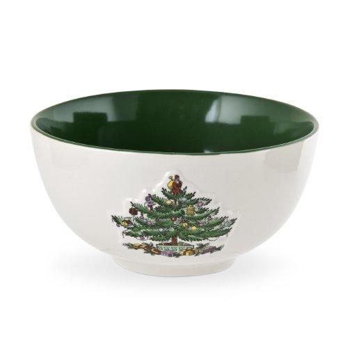 Spode Christmas Tree Green Glaze Individual Bowl, Set of 4