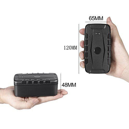 Car GPS Tracker,LESHP for vehical Locator Powerful Magnet Free Installation Free Fee Lifetime Platform 20,000mAh Waterproof GPRS Tracking Standby Time 240 days for Vehicles Container