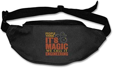 People Think It 's Magic、We Call It Engineerユニセックスアウトドアファニーパックバッグベルトバッグスポーツウエストパック